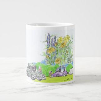 車の汚染 ジャンボコーヒーマグカップ