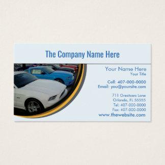 車の販売会社自動店員の名刺 名刺