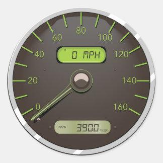 車の速度計の漫画 ラウンドシール