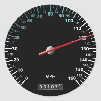 車の速度計 ラウンドシール