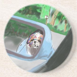 車の鏡 コースター