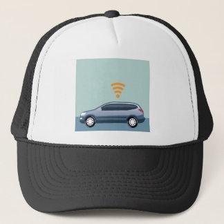 車のWifiのベクトル キャップ