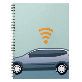 車のWifiのベクトル ノートブック