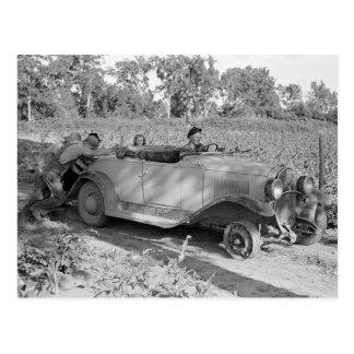 車を押すこと、1939年 ポストカード
