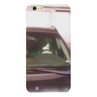 車を運転している犬 光沢iPhone 6 PLUSケース