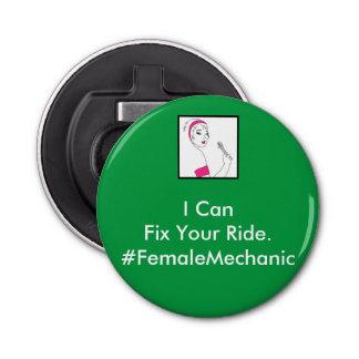 車修理女性整備士 栓抜き