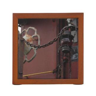 車掌車およびランタン場面-机のオルガナイザー ペンスタンド