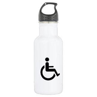車椅子のアクセス-ハンディキャップの椅子の記号 ウォーターボトル