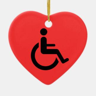 車椅子のアクセス-ハンディキャップの椅子の記号 セラミックオーナメント
