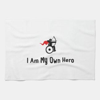 車椅子のアーチェリーの英雄 キッチンタオル