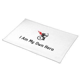 車椅子のアーチェリーの英雄 ランチョンマット