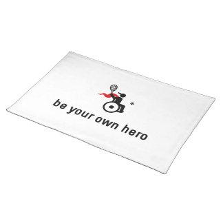 車椅子のテニスの英雄 ランチョンマット