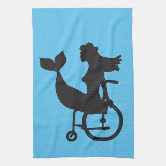 車椅子の人魚-タオル キッチンタオル
