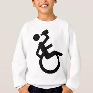 車椅子の大酒飲みの車椅子 スウェットシャツ