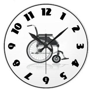 車椅子の時計 ラージ壁時計