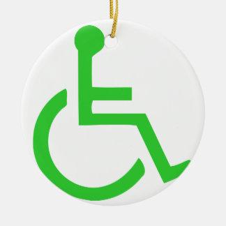車椅子の記号 セラミックオーナメント