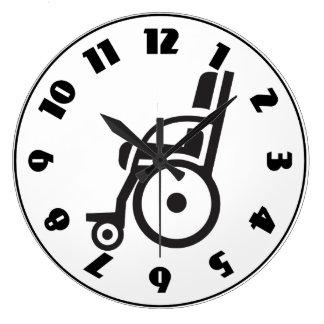 車椅子アイコン時計 ラージ壁時計