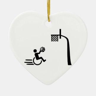 車椅子バスケットボール セラミックオーナメント