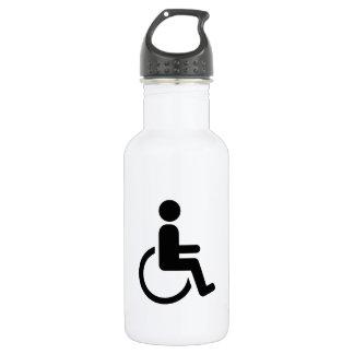 車椅子handicapedアイコン ウォーターボトル