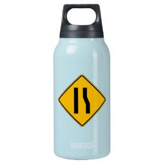 車線は、交通警告標識、米国正しく終わります 断熱ウォーターボトル