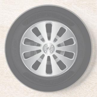 車車輪 コースター