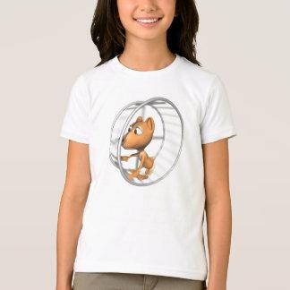 車輪のかわいいハムスターのランニング Tシャツ