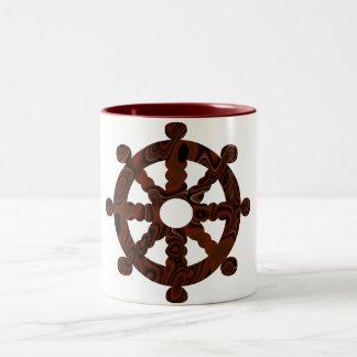 車輪のコップ ツートーンマグカップ
