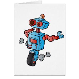 車輪のロボット。 カード