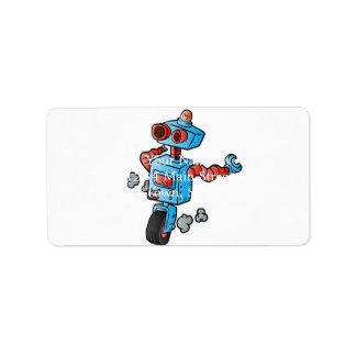 車輪のロボット。 ラベル