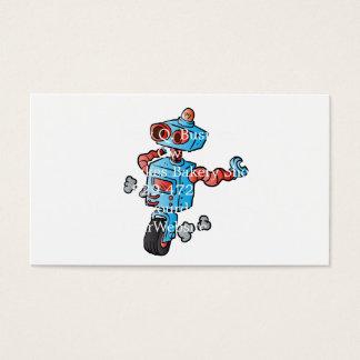 車輪のロボット。 名刺