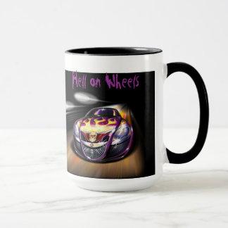 車輪の地獄 マグカップ