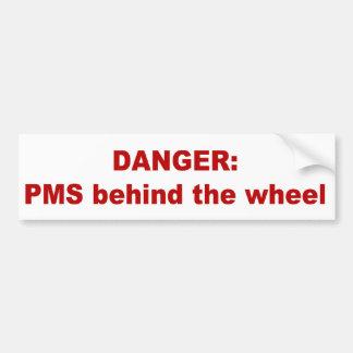 車輪の後ろのPMS バンパーステッカー