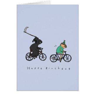 車輪|の暗いユーモアのバースデー・カードの死神 カード