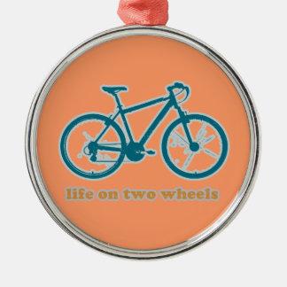 車輪-バイクの生命 メタルオーナメント