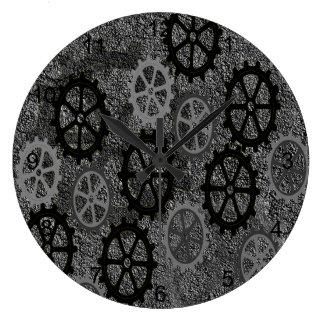 車輪 ラージ壁時計