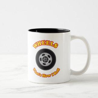 車輪-私がいかに転がるかである ツートーンマグカップ