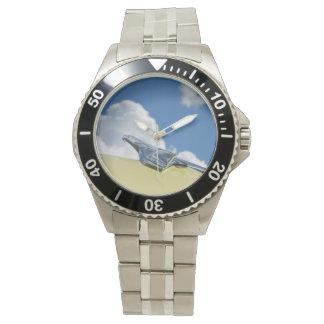 車 + クロム-クラシックな自動車手首Wat 腕時計