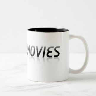 車+映画ツートーンロゴのマグ ツートーンマグカップ