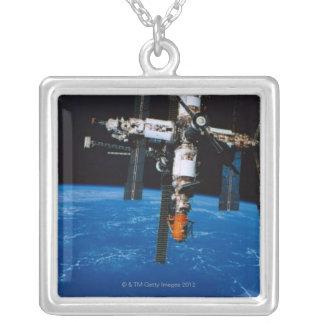 軌道の宇宙局 シルバープレートネックレス