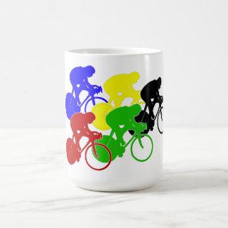 軌道自転車の競輪のバイクのライダー コーヒーマグカップ
