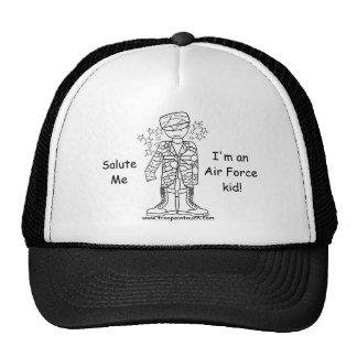軍のがきの空軍子供の帽子 トラッカー帽子