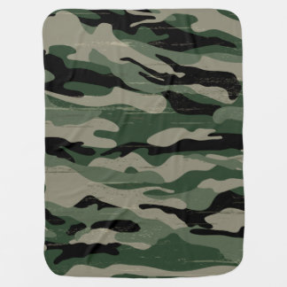 軍のカムフラージュのデザイン ベビー ブランケット