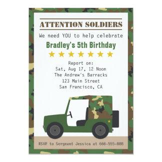軍のカムフラージュパターン兵士の男の子の誕生日 カード