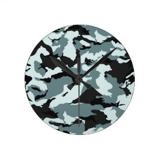 軍のカムフラージュパターン ウォールクロック