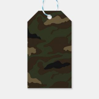 軍のカムフラージュパターン ギフトタグ