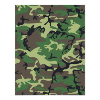 軍のカムフラージュ カード