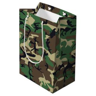 軍のカムフラージュ ミディアムペーパーバッグ