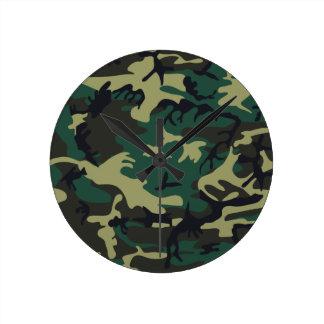 軍のカムフラージュ 壁時計