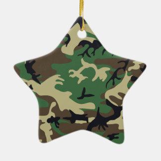 軍のカムフラージュ 陶器製星型オーナメント