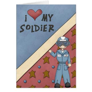 軍のコレクションの空軍人の兵士の挨拶 カード